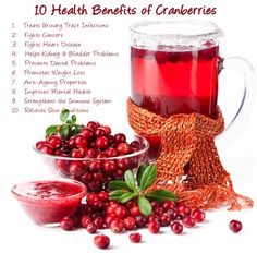 10 Health Benefits of Cranberries - http://www.3fatchicks.com/10-health-benefits-of-cranberries/