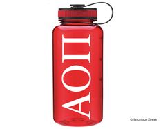 AOPi Classic Letter Water Bottle