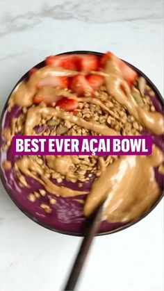 Acai Smoothie Bowl Recipe, Fruit Smoothie Recipes, Healthy Smoothies, Homemade Smoothie Bowl, Good Healthy Snacks, Healthy Dishes, Vegan Recipes, Snack Recipes, Sweets