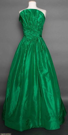 Scaasi Silk Ball Gown, C. 1980, Augusta Auctions, April 8, 2015 NYC, Lot 365