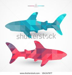 shark vector geometric - Google Search