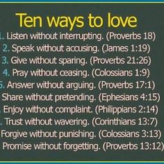 Ten ways to love...