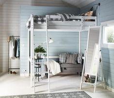 die besten 25 ikea hochbett mit schreibtisch ideen auf pinterest. Black Bedroom Furniture Sets. Home Design Ideas