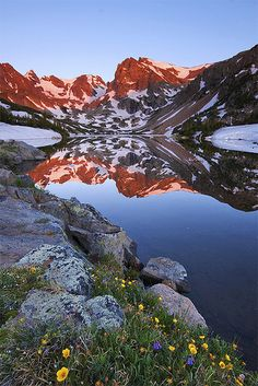 Lake Isabelle Reflection - Indian Peaks Wilderness, Colorado