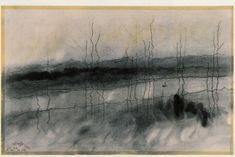 "Lyonel Feininger, ""Mystic river"", oil on canvas"
