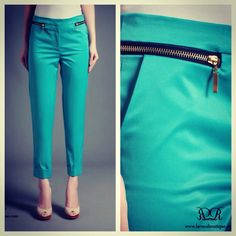 ➰ Gabbie 7/8 pants (cyan green) IDR 235,000 ➰ ☑️ Available in size S, M & L  To order, contact us  ✅ WA/ SMS: +6281330940040 ✅ BBM: 2AFD2E9E ✅ LINE: vivi-laroux  ♦️LIKE us on FB www.facebook.com/laroux.boutique  for full preview of our collection ♦️