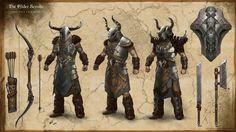 File:ON-concept-Dreadhorn Armor.jpg - The Unofficial Elder Scrolls Pages (UESP) Elder Scrolls Lore, Elder Scrolls Skyrim, Elder Scrolls Online, Fantasy Armor, Fantasy Weapons, Medieval Fantasy, Character Concept, Character Creation, Character Art