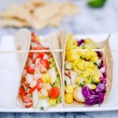 fish tacos with homemade mango salsa!
