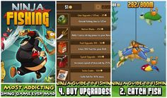 Ninja Fishing - 110 fish species to collect and earn gold to buy upgrades and new islands. Over 15 million users! (via androidheadlines.com)