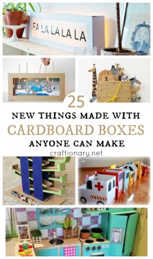 Cardboard Boxes Anyone Can Make | These DIY cardboard box projects are easy, durable and safe to have around the house for kids. The kids will love making and playing with these.