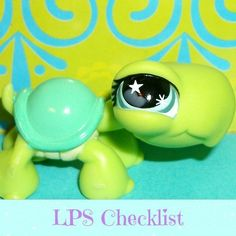 Littlest Pet Shop 778 Apple Green Turtle Star Eyes Super RARE LPS.  Visit mylittlestpetshops.com for more pets!