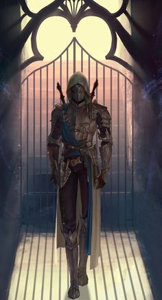 Assassin by HaDong Song Fantasy Concept Art, Fantasy Character Design, Dark Fantasy Art, Character Design Inspiration, Character Concept, Character Art, Dungeons And Dragons Characters, Dnd Characters, Fantasy Characters