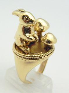 Woodland bunny ring