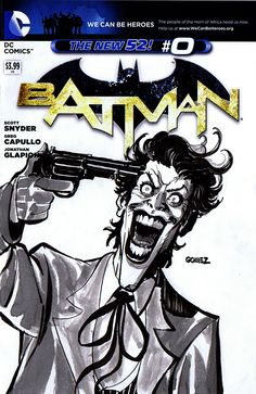Joker SketchCover. #comics #dccomics #batman #thedarkknight #joker #arkhamasylum #sketch #sketchcover #sketchamadoodle #joelgomez