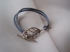 Leather Bracelet Fits to 7 inch wrist.  SOLD