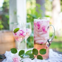 Rose Petal Sangria, refreshing and lightly floral, a lovely way to celebrate the coming of summer. Make with wild roses or petals untreated with pesticides,