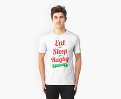 """""""Eat, Sleep, Rugby, Repeat"""" T-Shirts & Hoodies by gamefacegear 