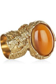 Yves Saint Laurent Arty gold-plated glass ring | NET-A-PORTER