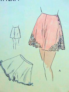 1930s PRETTY TAP PANTIES KNICKERS PATTERN EASY TO SEW  ONLY 2 PIECES VOGUE 6321