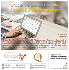 Oracle Certified Associate _ Java SE7 Programmer . . The ULTIMATE course to enter the JAVA WORLD! . . Join Now by dailing .. 17005131 or watsapp .. 35490518 . . #Genetech #education #study #exams #Bahrain #tamkeen #courses #CISCO #Oracle #aat #Cambridge #business #tamkeencourses #training #vmware #vshpere #microsoft #developer #IT #COMPUTERS #ITexecutive #java #javascript