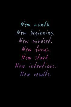 New month, new beginning | Skirt the Ceiling | skirttheceiling.com