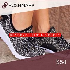 Reserved for Kimberly 👟 Black and white slip on sneakers Size 8 & 10- reserved price-$30 Total-$60-10%(6)=$54 Please see original listing for details Shoes Sneakers