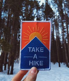 Take A Hike Iron on Patches!