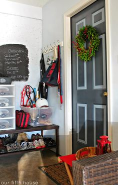 creating a mudroom in the garage