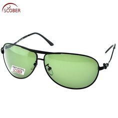 afd9cfb0c4 SCOBER   Large Pilot Black Wave Temple Designers Polarized Sunglasses  Custom Made Nearsighted Minus Prescription Lens -1 To -6 Riding glasses