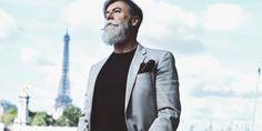Philippe Dumas grey hairstyles for men