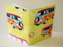 """Buch-Hülle für Kalender/Tagebuch A5 """"Hippie-Bus"""""""