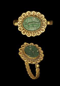 Roman Gold Intaglio Ring, 3rd-4th century A.D.