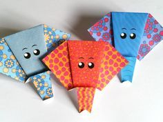 Tête d'élephant en origami