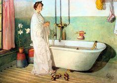 by Carl Larsson Lisbeth Prepares A Bath