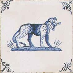 Delft tiles featuring Animals and Birds