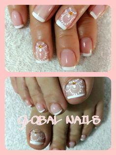 Toe Nail Art, Nail Art Diy, Diy Nails, Gorgeous Nails, Love Nails, Pretty Nails, Mani Pedi, Manicure And Pedicure, Purple And Pink Nails