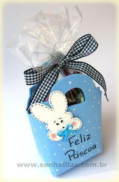 Porta-ovos de Páscoa feito com eva - Easter