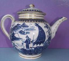 18th Century English Pennington Liverpool Porcelain Teapot Fisherman Patt in Pottery, Porcelain & Glass, Date-Lined Ceramics, Pre-c.1840   eBay