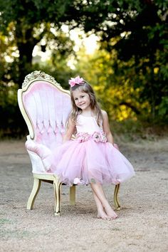 Rent My Dust Priscilla Pink Chair and Precious Little Girl Photo Shoot by Angela MajerusPhotography