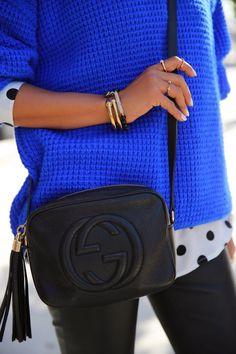 @gucci black soho bag