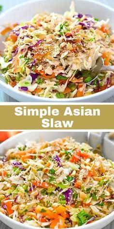 Slaw Recipes, Mexican Food Recipes, Keto Recipes, Vegetarian Recipes, Cooking Recipes, Healthy Recipes, Asian Dinner Recipes, Amazing Food Videos, Tasty Videos