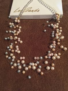 Floating Freshwater Pearl Necklace by BlingBaubles on Etsy