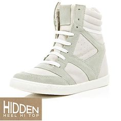 Off white wedge high tops - high tops - shoes / boots - women