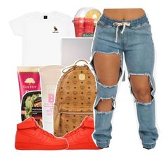 """Read the D"" by haraj-uku ❤ liked on Polyvore featuring October's Very Own, Samsung, Maybelline, MCM and NIKE"