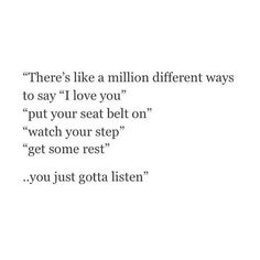There's a million different ways to say i love you