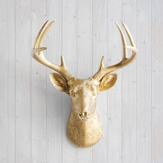 Wall Charmers Deer in Gold  Faux Head Fake Animal by WallCharmers, $84.97