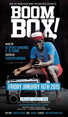 January 16, 2015!! Boombox, I Party, Dj, Hip Hop, January, Army, Parties, Entertaining, Baseball Cards