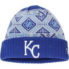 official photos d453e 52610 Men s Kansas City Royals New Era Royal Cozy Cuffed Knit Hat Kansas City  Royals Hat,