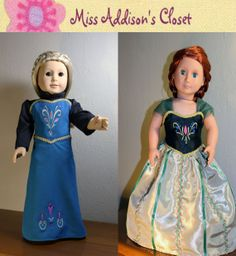 Holiday Clothes, Holiday Outfits, Doll Costume, Costumes, Doll Patterns, Sewing Patterns, Frozen Dolls, Queen Elsa, American Girls