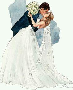 Inslee Haynes - Wedding portrait illustration.